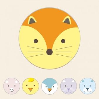 Diseño de zorro a color