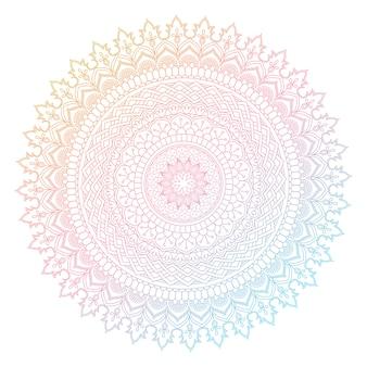 Diseño decorativo de mandala con colores pastel