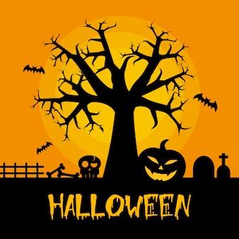 Diseño del árbol de Halloween