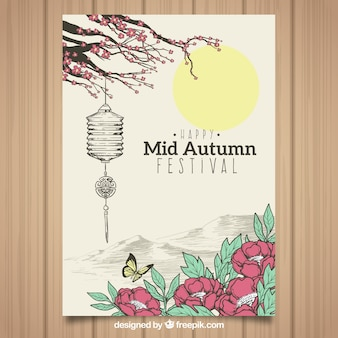Diseño del festival de mitad del otoño