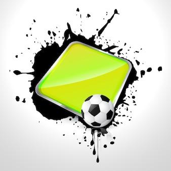Diseño del fútbol con espacio para texto
