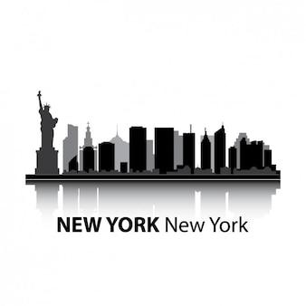 Diseño del skyline de nueva york