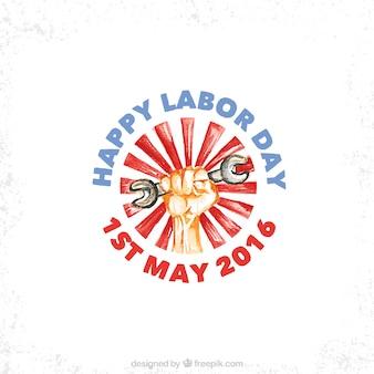 Diseño dibujado a mano del día del trabajador