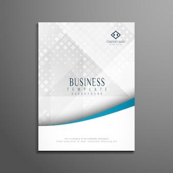 Diseño elegante abstracto de folleto de negocios