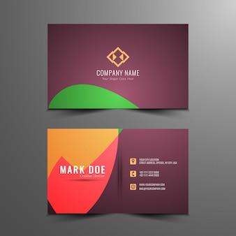 Diseño elegante abstracto de tarjeta de visita