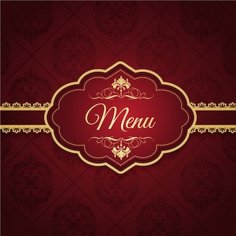 Diseño elegante de menú