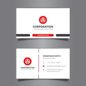 Diseño elegante mínimo de tarjeta de visita