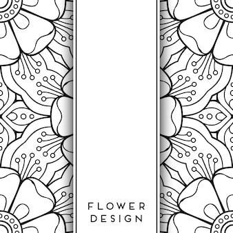 Diseño floral blanco y negro