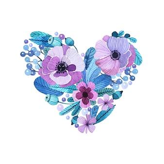 Diseño floral de acuarela