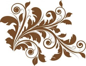 diseño floral vector de los elementos