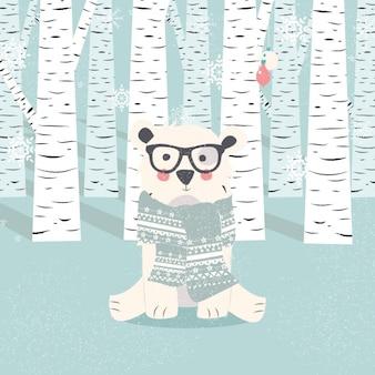 Diseño fondo de oso polar