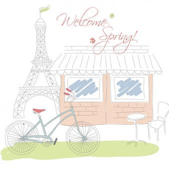 Diseño fondo de primavera
