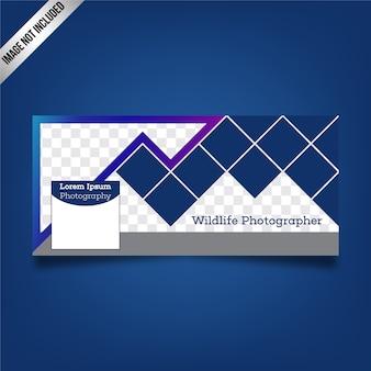 Diseño geométrico de cover de facebook