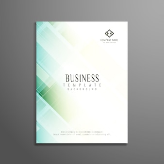 Diseño geométrico elegante abstracto de folleto de negocios