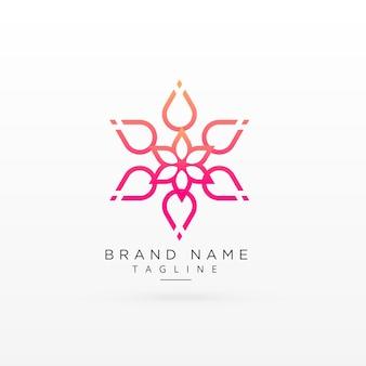 Diseño hermoso de concepto de logotipo de flor