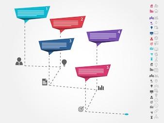 Diseño infográfico colorido