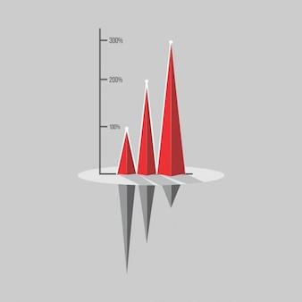 Diseño infográfico de rendimiento de las inversiones