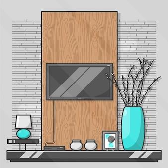 Diseño interior plano