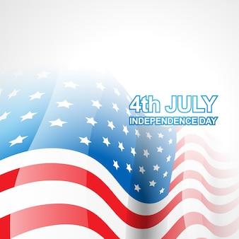 Diseño luminoso del día de la independencia