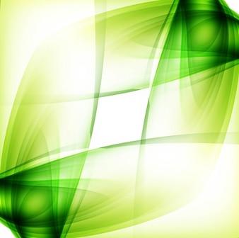 Diseño luminoso verde de fondo ondulado
