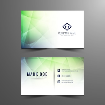 Diseño moderno abstracto de tarjeta de visita
