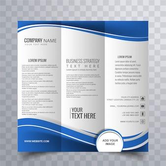 Diseño moderno azul de folleto