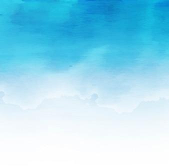 Diseño moderno azul de fondo de acuarela