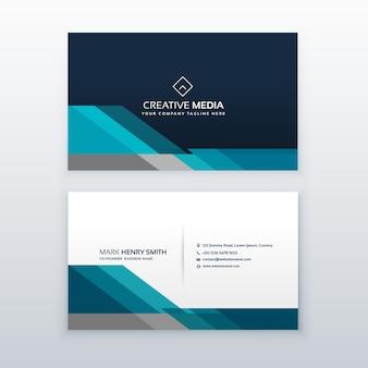 Diseño moderno azul de tarjeta de visita