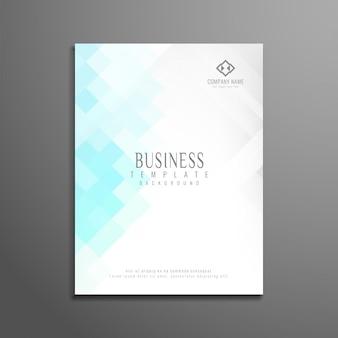 Diseño moderno de folleto de negocios estilo de mosaico