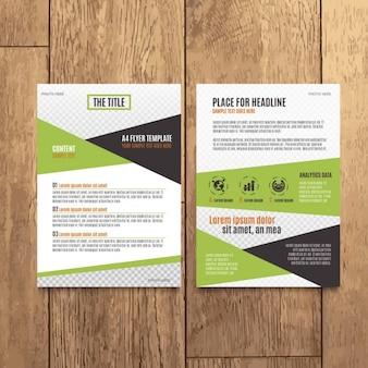 Diseño moderno de folleto