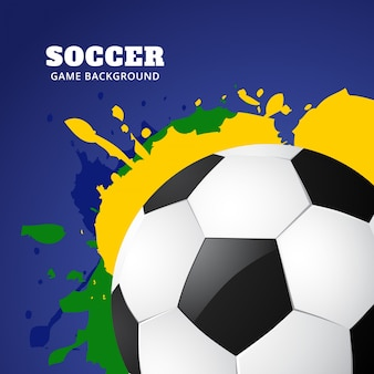 Diseño moderno de fútbol en colores de brasil