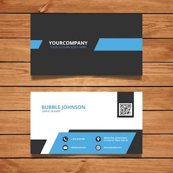 Diseño moderno de tarjeta de visita corporativa