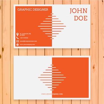 Diseño moderno naranja de tarjeta de visita