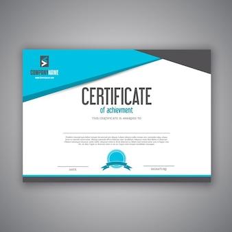 Diseño moderno para un certificado