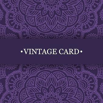 Diseño morado vintage de mandala