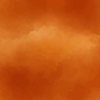 Diseño naranja de fondo de acuarela