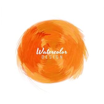 Diseño naranja de textura de acuarela