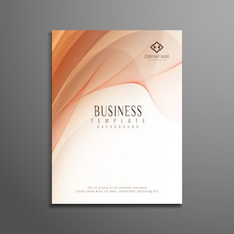 Diseño ondulado elegante de folleto del negocio