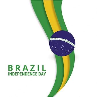 Diseño ondulado para el día de independencia de brasil