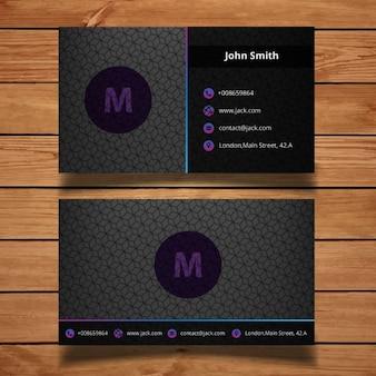 Diseño oscuro tarjeta de visita corporativa