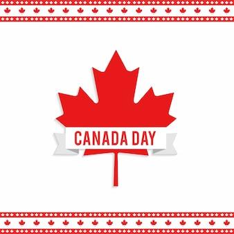 Diseño para el día de canadá con hoja de arce