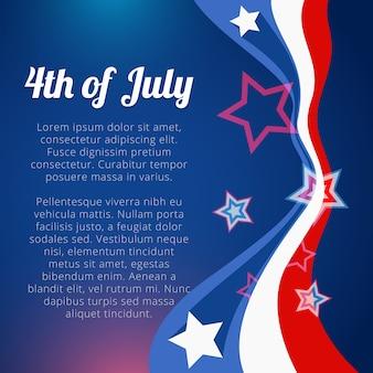 Diseño para el día de la independencia con espacio para texto