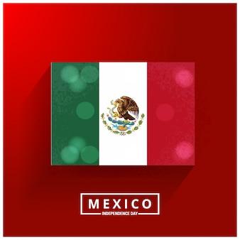 Diseño para el día de la independencia de mexico con bandera luminosa