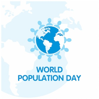 Diseño para el día mundial de la población con globo