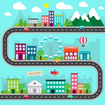 Diseño plano de ciudad