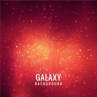 Diseño rojo de fondo de galaxia