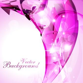 Diseño rosa luminoso ondulado de fondo