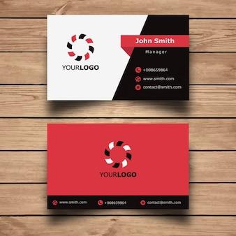 Diseño simple de tarjeta de visita roja