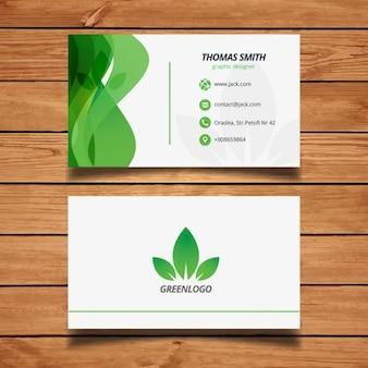 Diseño Tarjeta de visita verde de la naturaleza