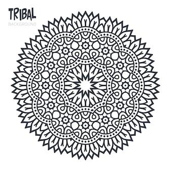 Diseño tribal de mandala